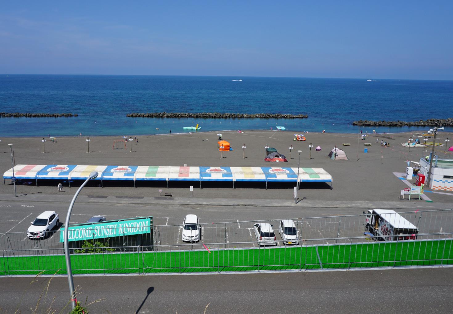 はぼろサンセットビーチ砂浜キャンプ場03