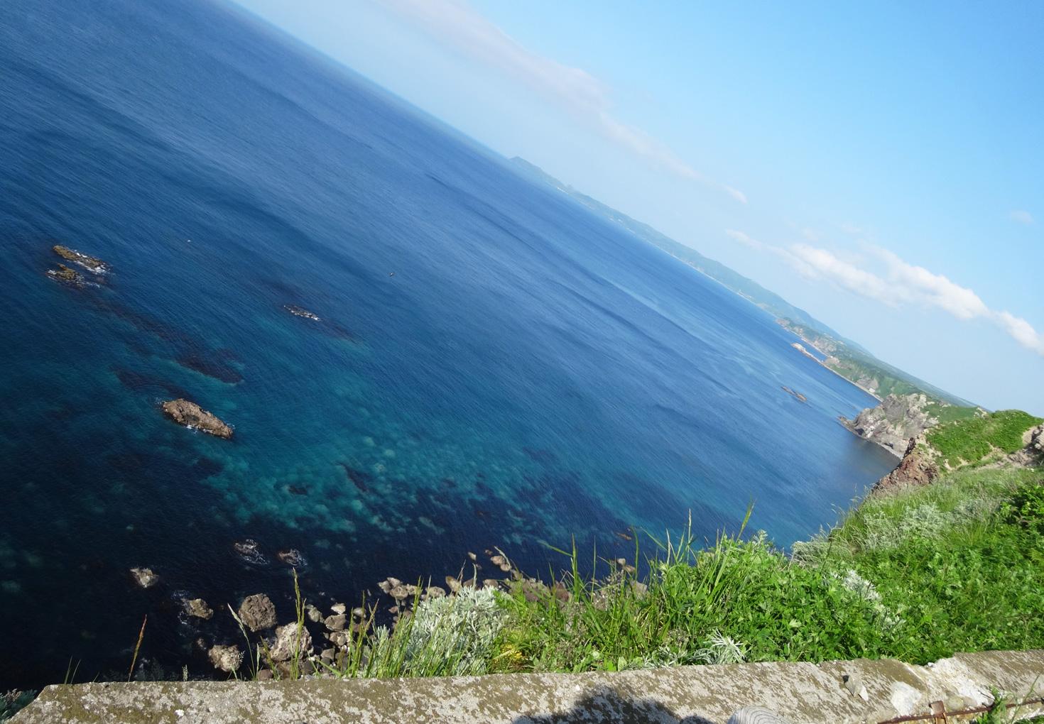 神威岬展望台 積丹ブルーの海