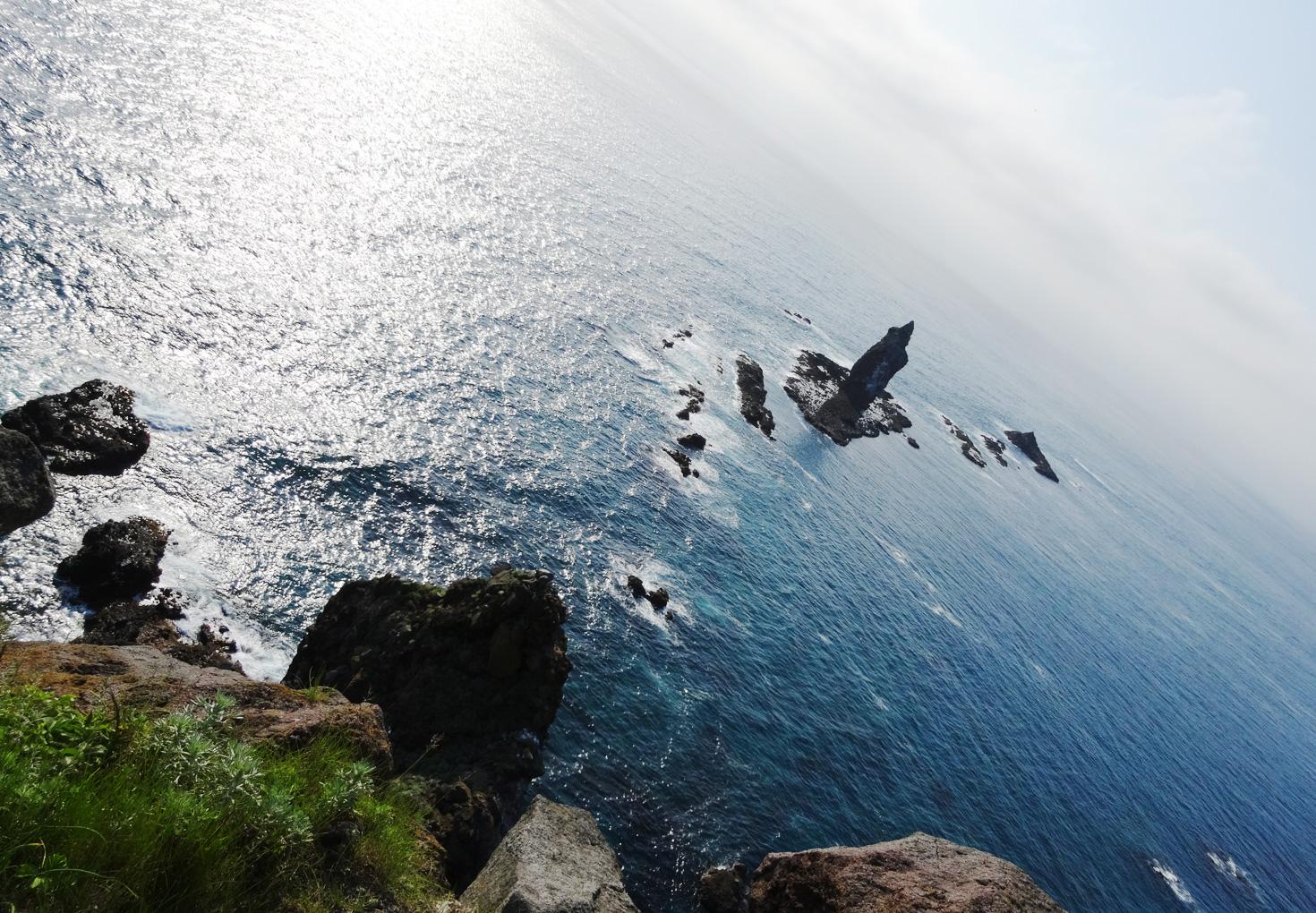 神威岬展望台 先端からの神威岩