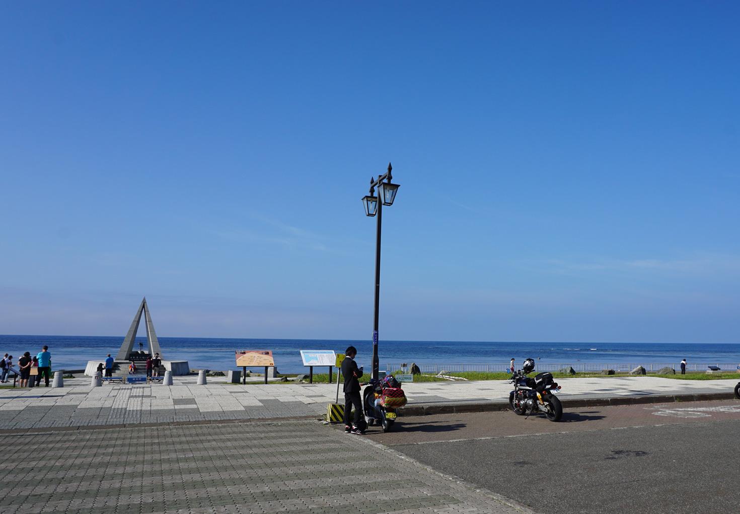 宗谷岬とバイク