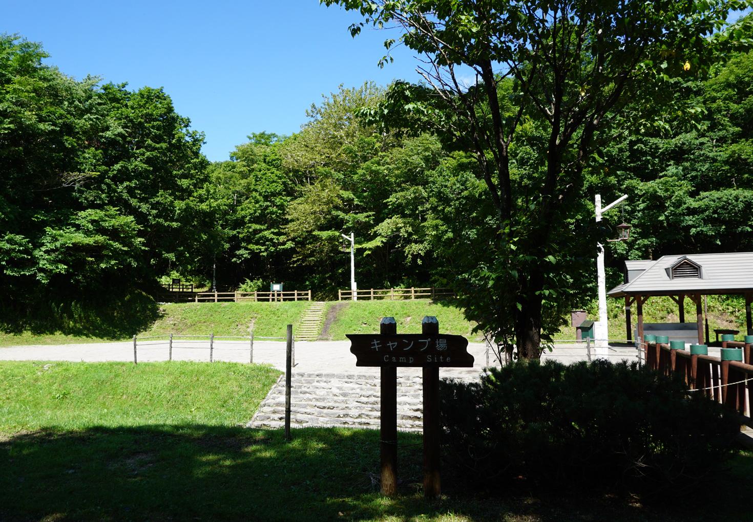 千歳市泉沢自然の森キャンプ場全景