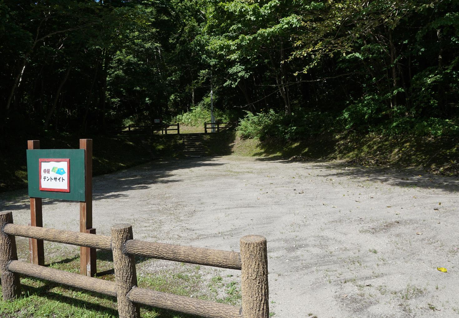 千歳市泉沢自然の森キャンプ場中段テントサイト