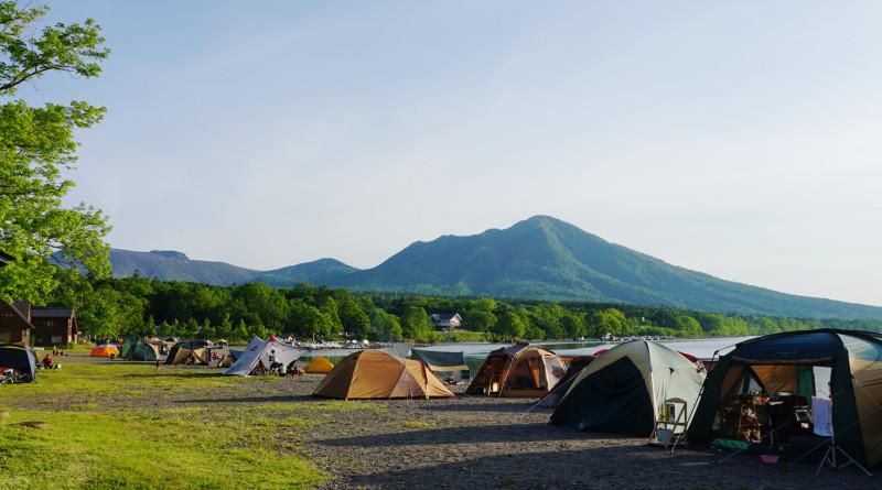 湖 キャンプ 支笏