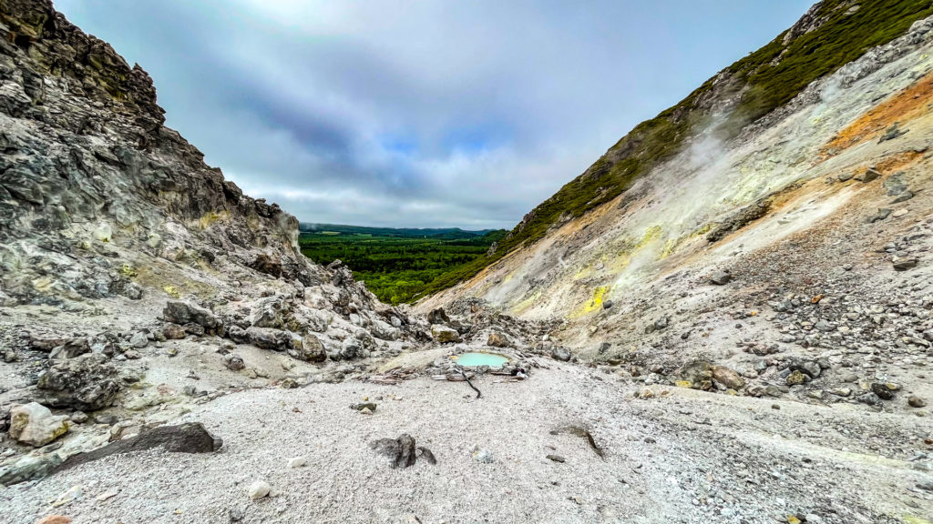 硫黄山温泉 遠景