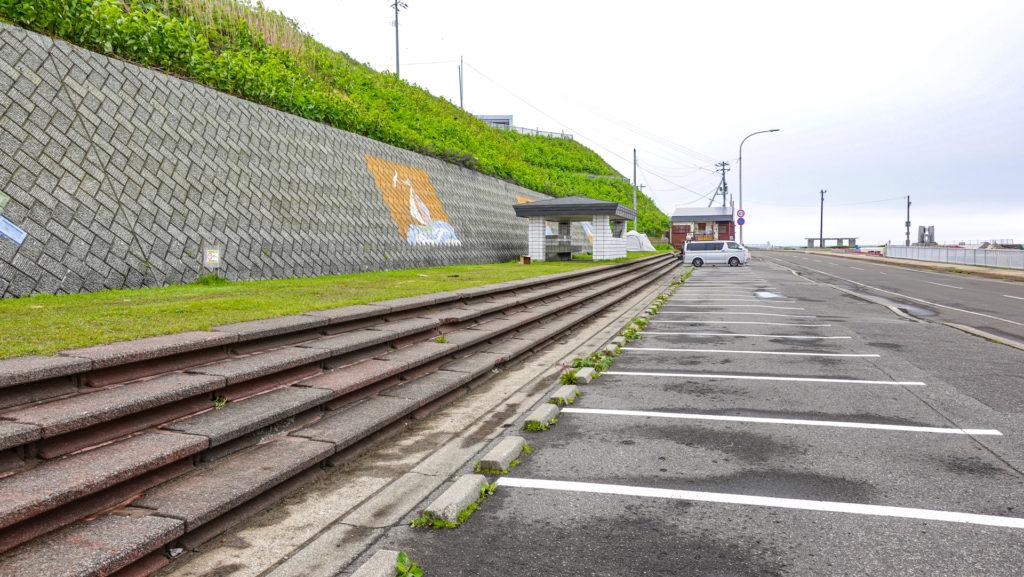 黄金岬キャンプ場 駐車スペース