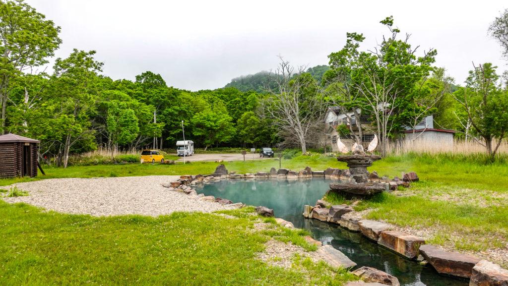 池の湯温泉 露天風呂 駐車場方向