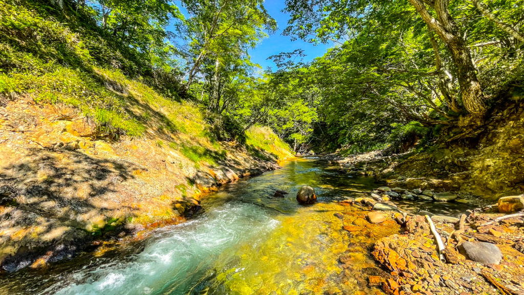 然別峡温泉 チニカ (ペニチカ) の湯 下流側