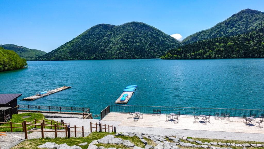 然別湖の景色