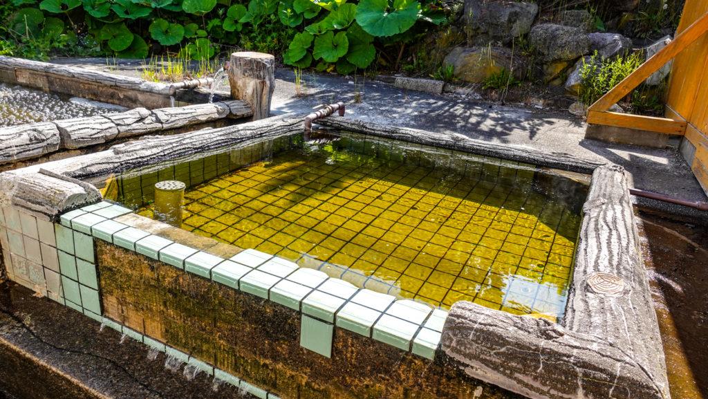 野付温泉 浜の湯 露天浴槽