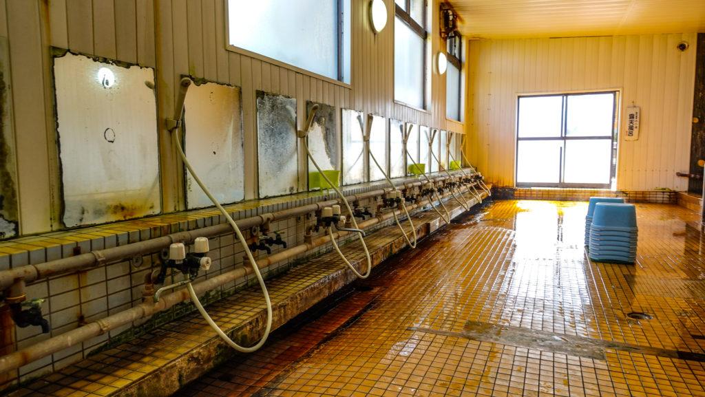 野付温泉 浜の湯 洗い場