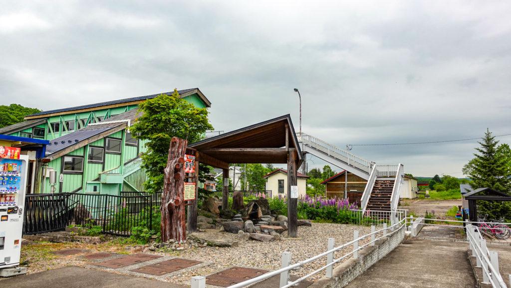 JR摩周駅 足湯 ぽっぽ湯 位置