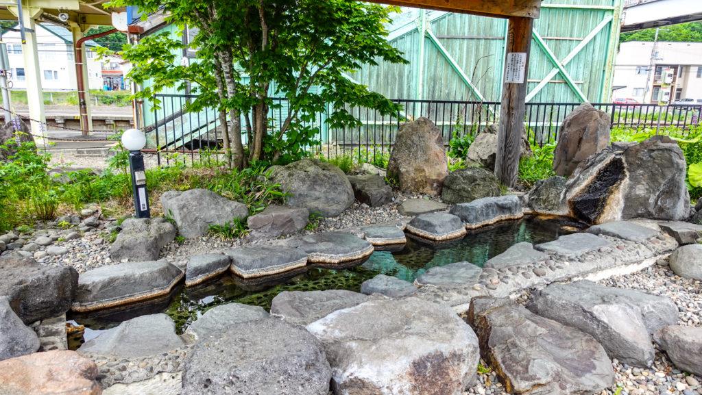 JR摩周駅 足湯 ぽっぽ湯 浴槽