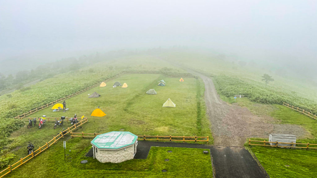 開陽台 ウシ空のキャンプ場 キャンプサイト