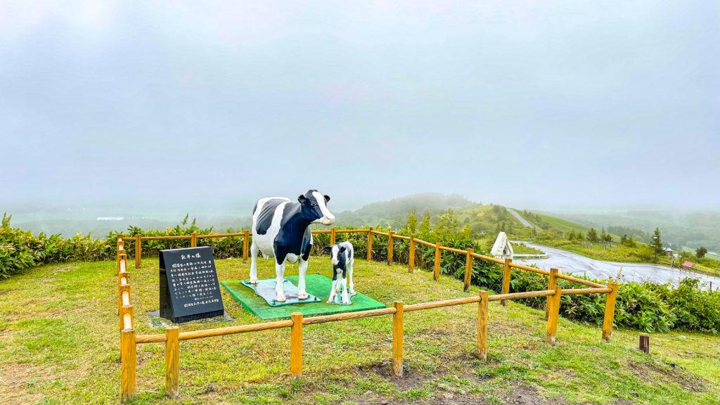 開陽台 乳牛の像